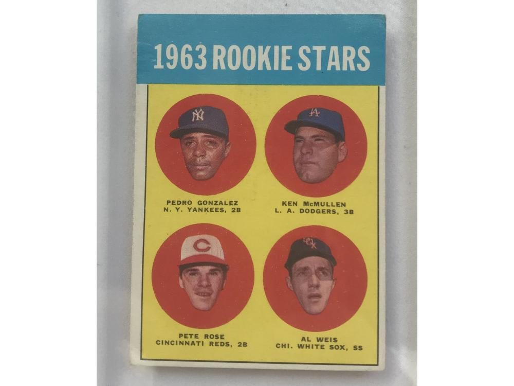 1963 Topps Pete Rose Rookie Ex Condition