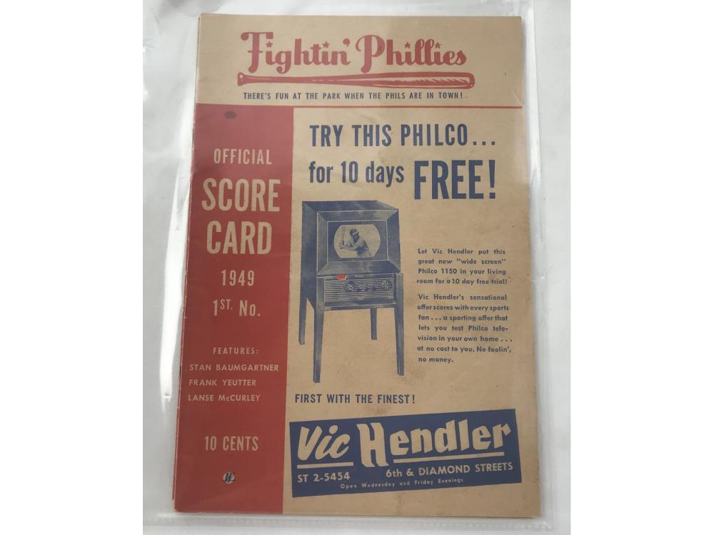 Two Early Philadelpia Phillies Programs