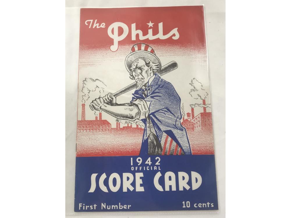 1942 Philadelpia Vs. St.louis Program