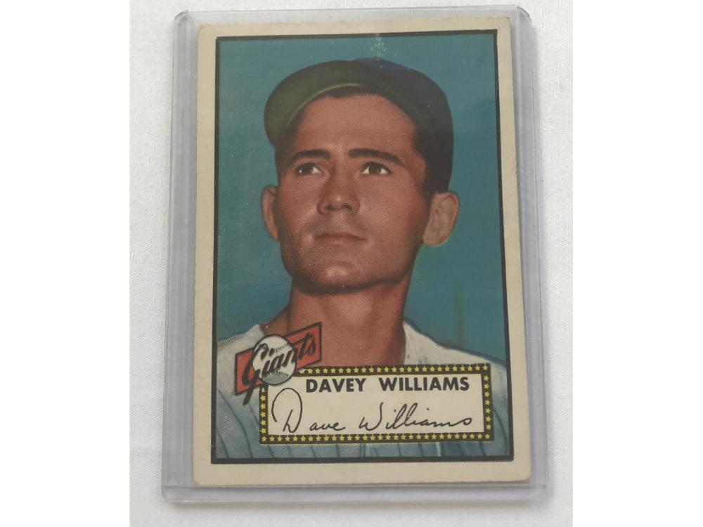 1952 Topps Davey Williams