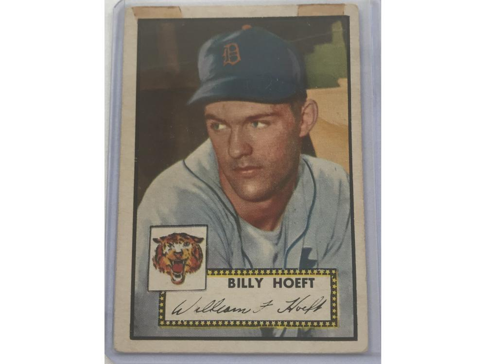 1952 Topps Billy Hoeft Good Condition