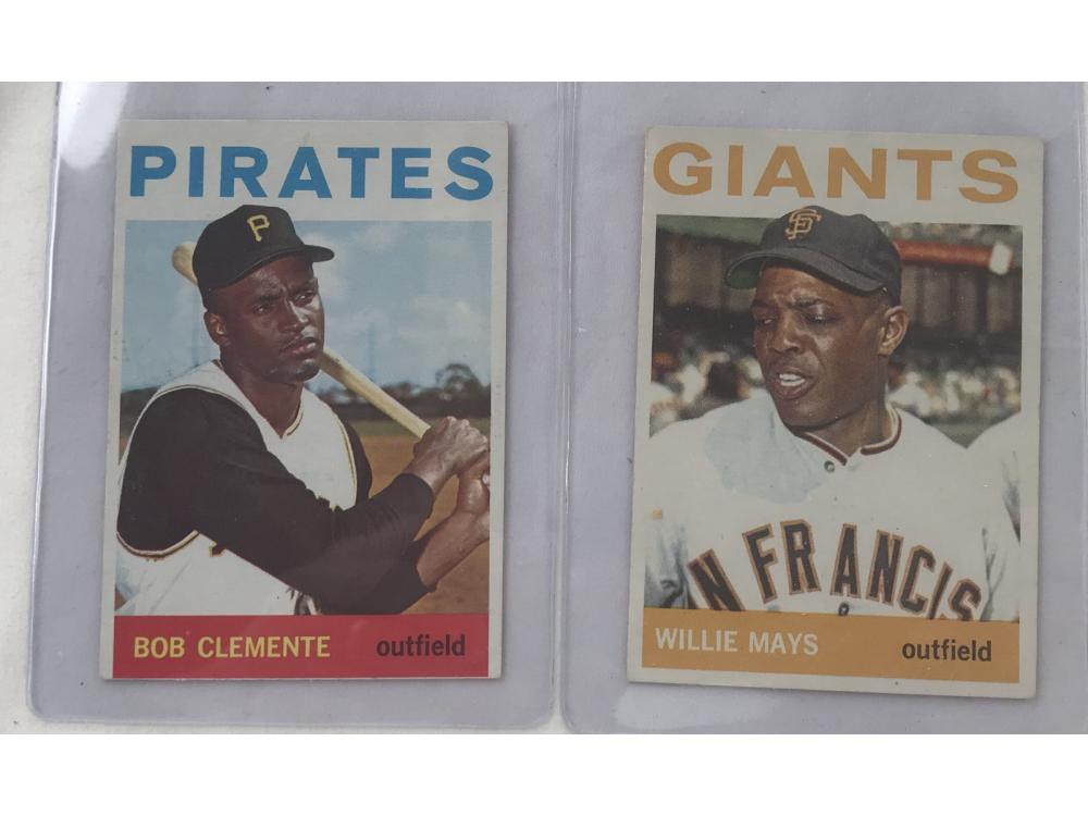 1964 Topps Willie Mays And Roberto Clemente