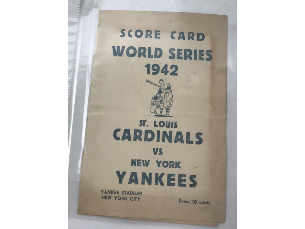1942 Yankees Vs. Cardinals Scorecard