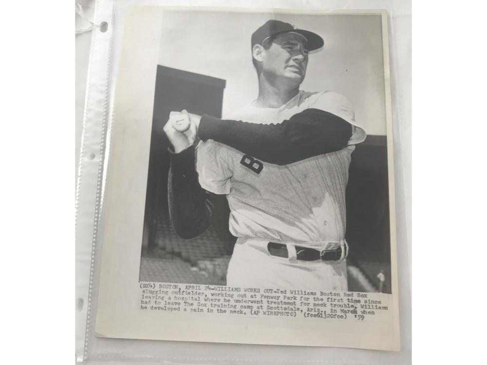 1959 Ted Williams Wire Photo
