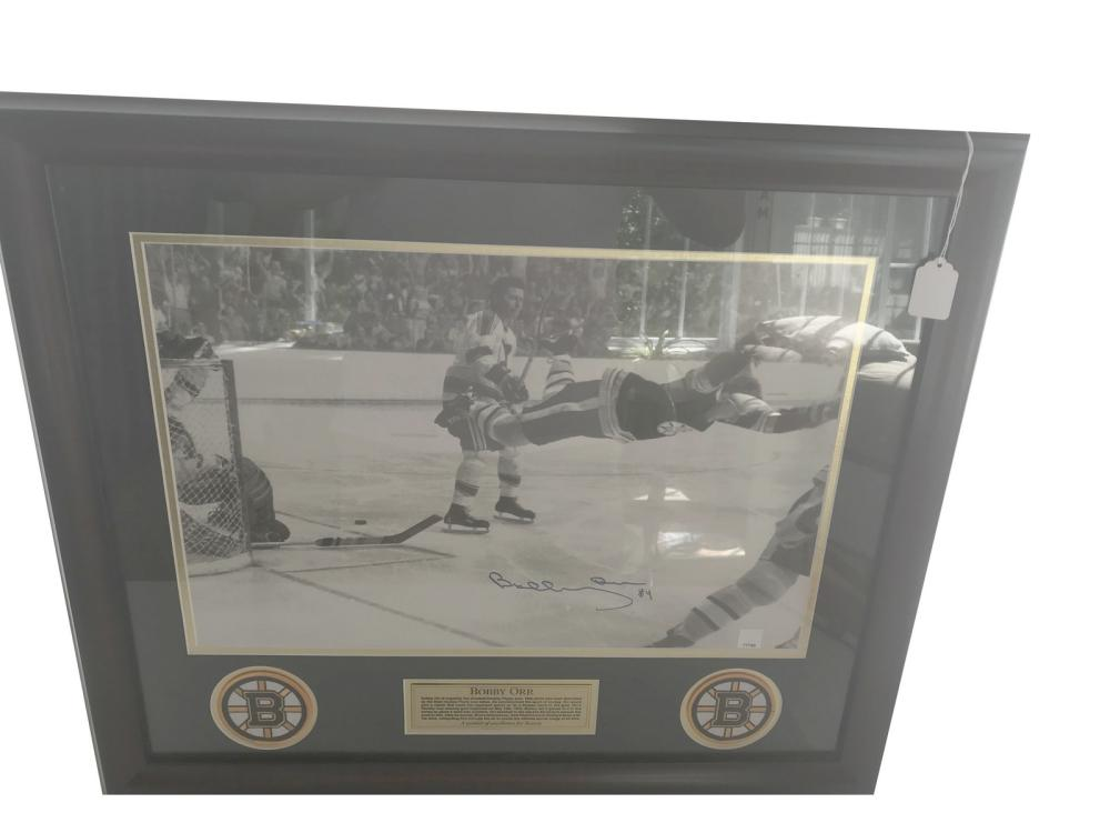 Bobby Orr Signed Photo Display With Coa