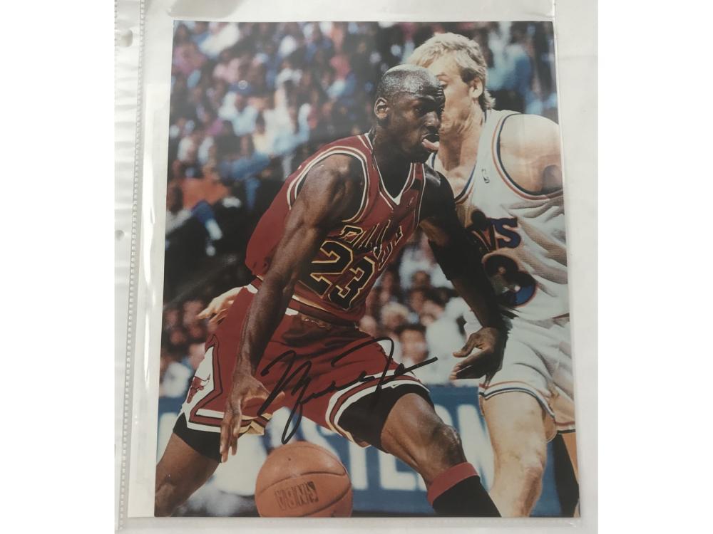 Michael Jordan Signed 8x10 With Coa