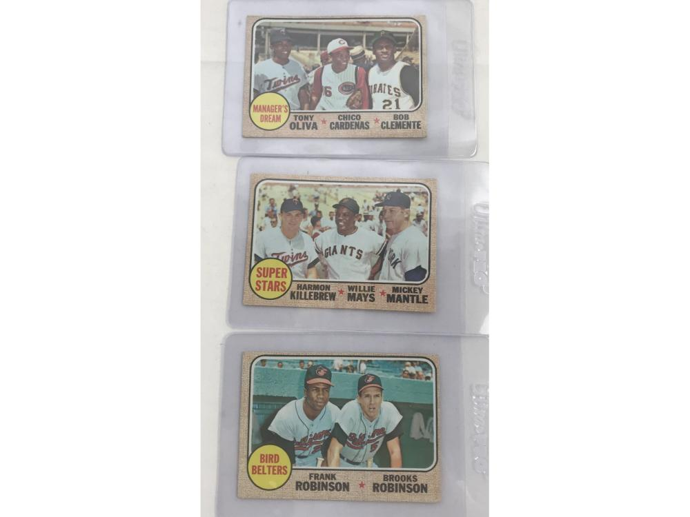 Three 1968 Topps Multi Player Cards