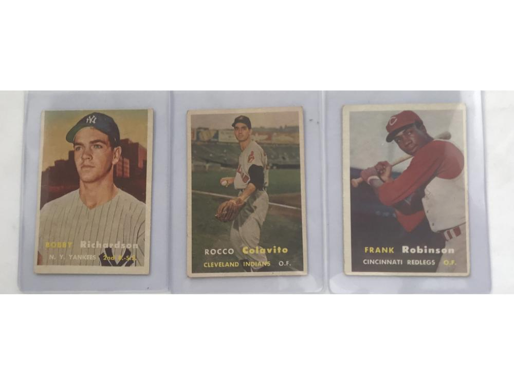 Three 1957 Topps Rookie Cards