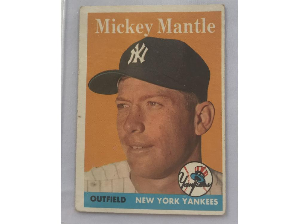 Crease Free 1958 Topps Mickey Mantle Card