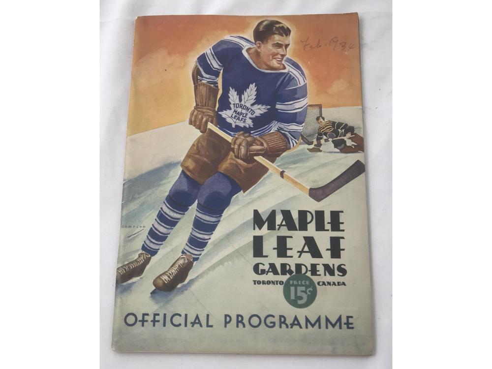 Two 1934 Toronto Maple Leafs Programs