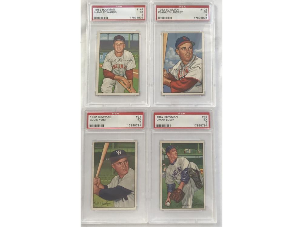 16 1952 Bowman Baseball Graded Cards Psa 5