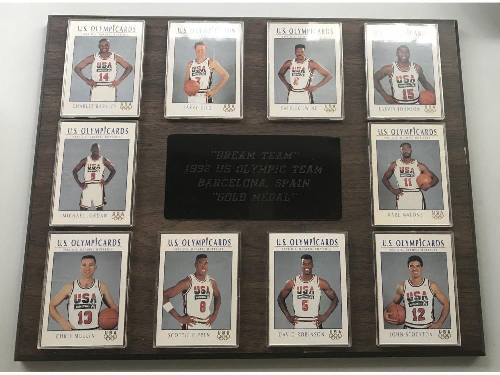 1992 Dream Team Hoops Set Framed