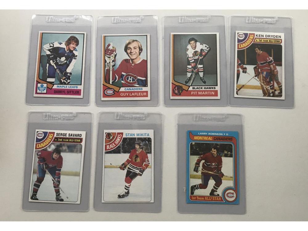 200 1970's Hockey Cards With Stars