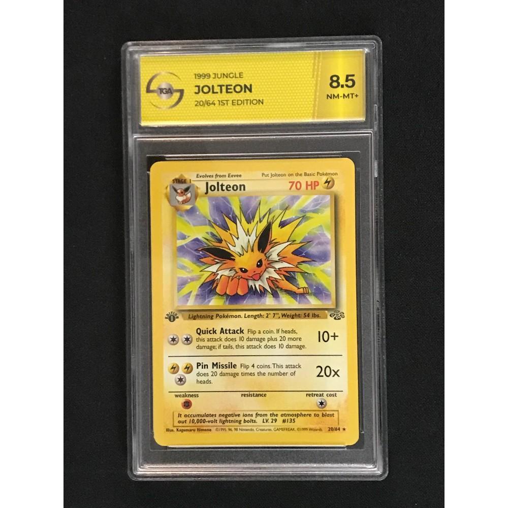 1999 Pokemon Jungle Jolteon Tga 8.5 Nm-mt+