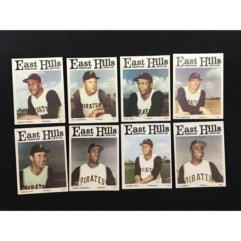 12 1966 East Hills Shopping Center Pirates Cards