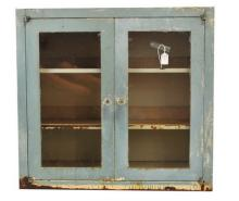 Antique Metal Medicine Cabinet