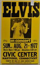 Original 1977 Elvis Concert Poster