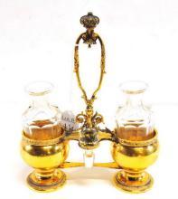 Gold Wash Sterling Silver Cruet Set