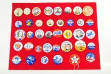 Estate Political Buttons Ike/Truman/FDR