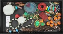 Estate Asian Jewelry/Jade/Snuff Bottles