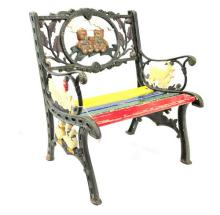 Children's Cast Iron Hand Painted Bench