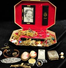 Small Box of assorted costume jewelry