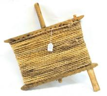 Unusual Anchor Rope Winder Wood Carved