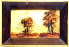 Three Mini Oil On Boards Landscapes 1930's