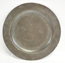Circa 1790-1840 Pewter Plate London