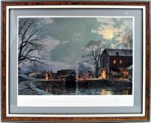Pencil signed print by John Stobart in a