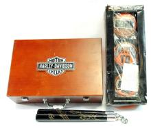 2 Harley-Davidson items mixed in with misc. items