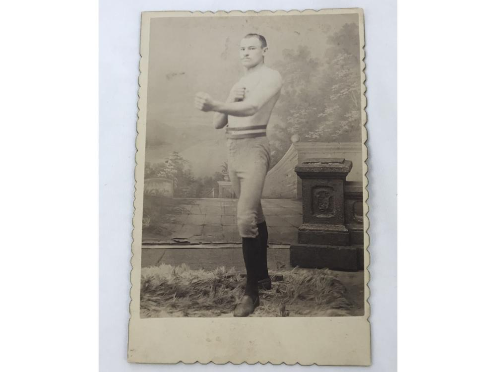 Vintage Champion Boxing Cabinet Card