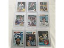 Lot 3A: (37) Baseball/football Auto Cards Hofs/stars