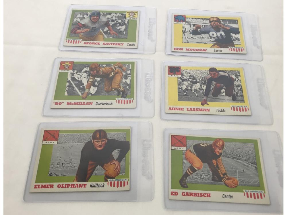 Lot 7A: (51) 1955 Topps All American Football