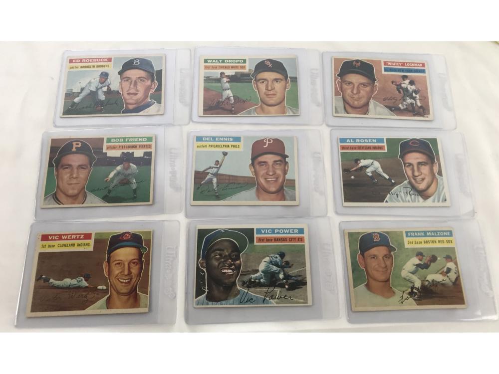 (18) 1956 Topps Baseball Bv $510 - Minor Stars