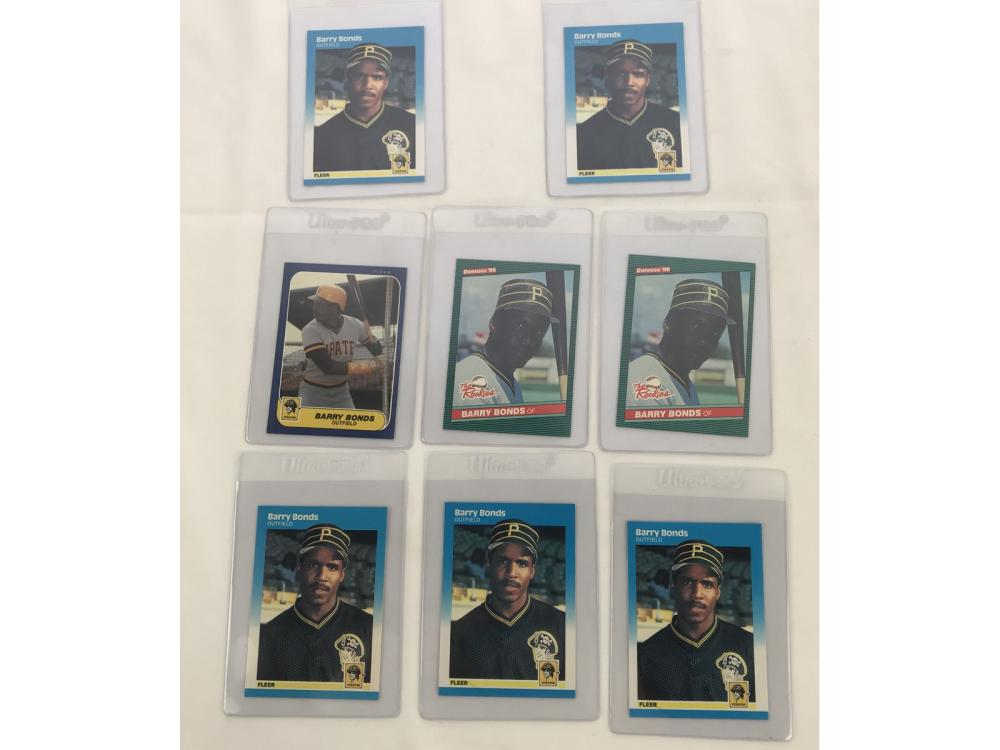 (17) Barry Bond Rookie Cards