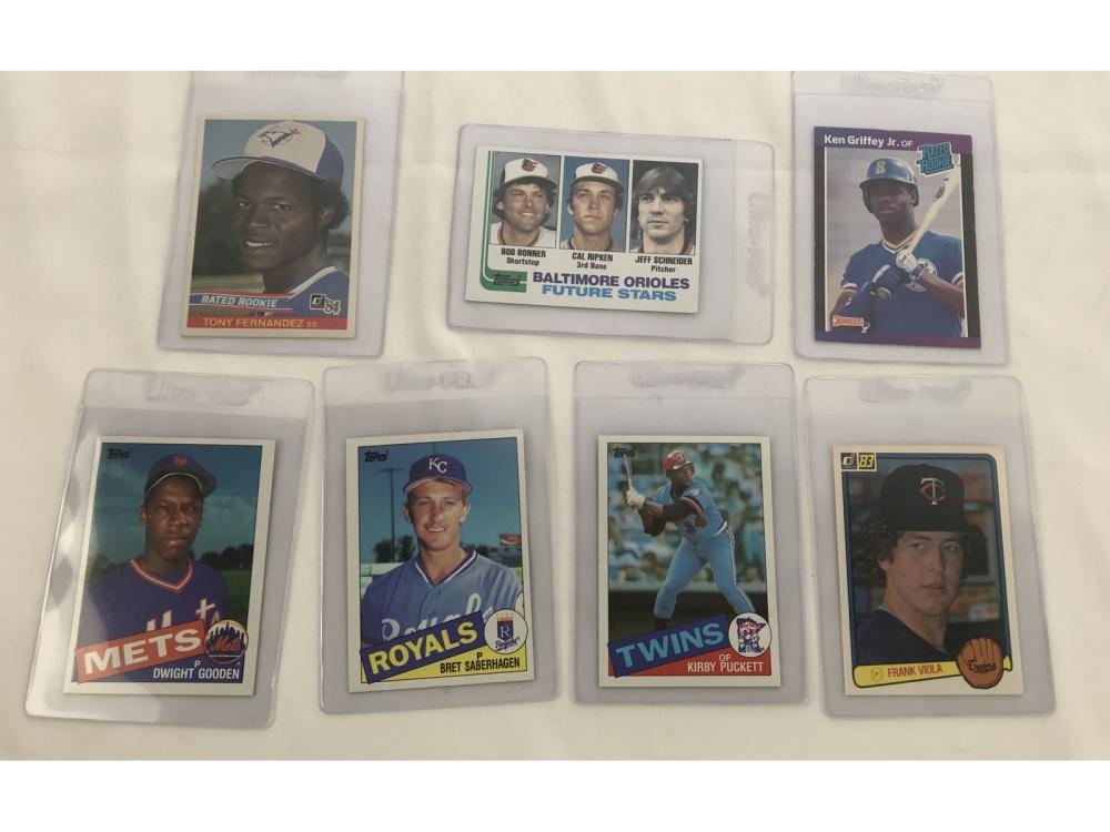 (7) 1980s Hofs/star Rookies-ripken/griffey Jr