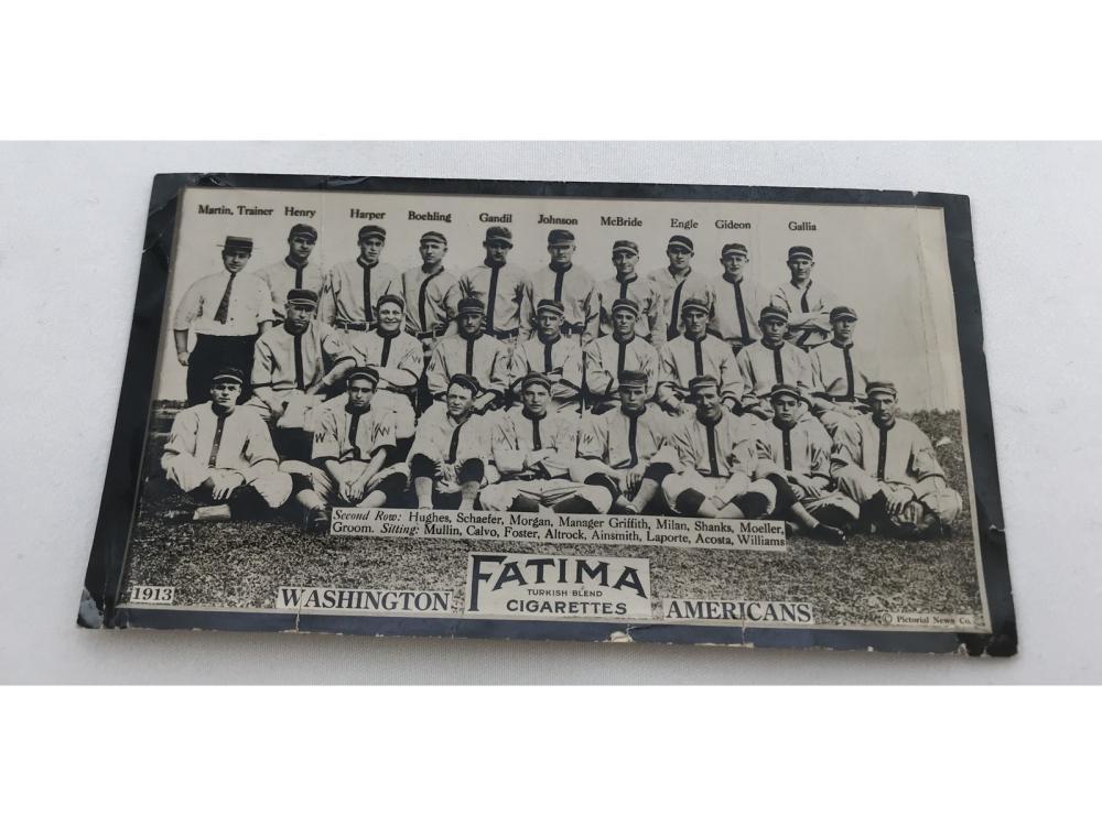 1913 T200 Washington Americans - Walter Johnson