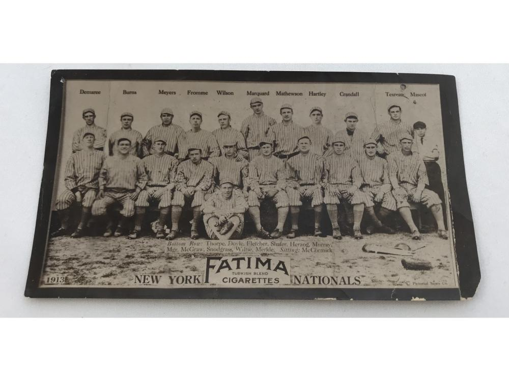 1913 T200 New York Nationals- Thorpe/mathewson/mad