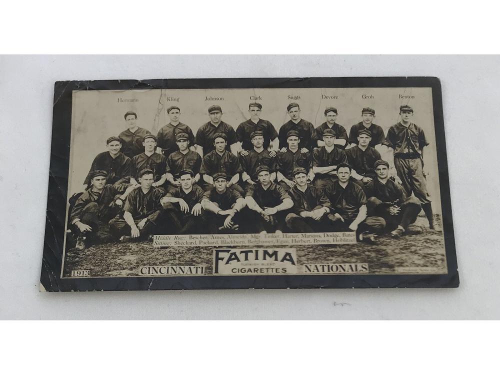 1913 T200 Cincinnati Nationals - Kling/tinker