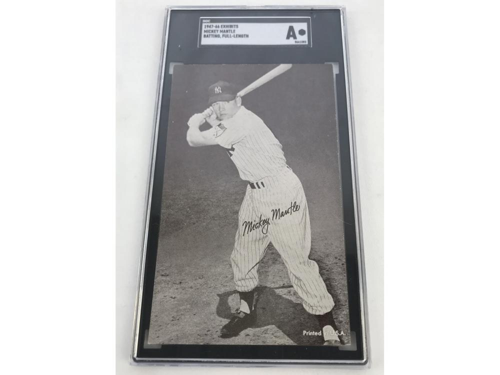 Sgc A 1947 Exhibits Mickey Mantle (batting-full)