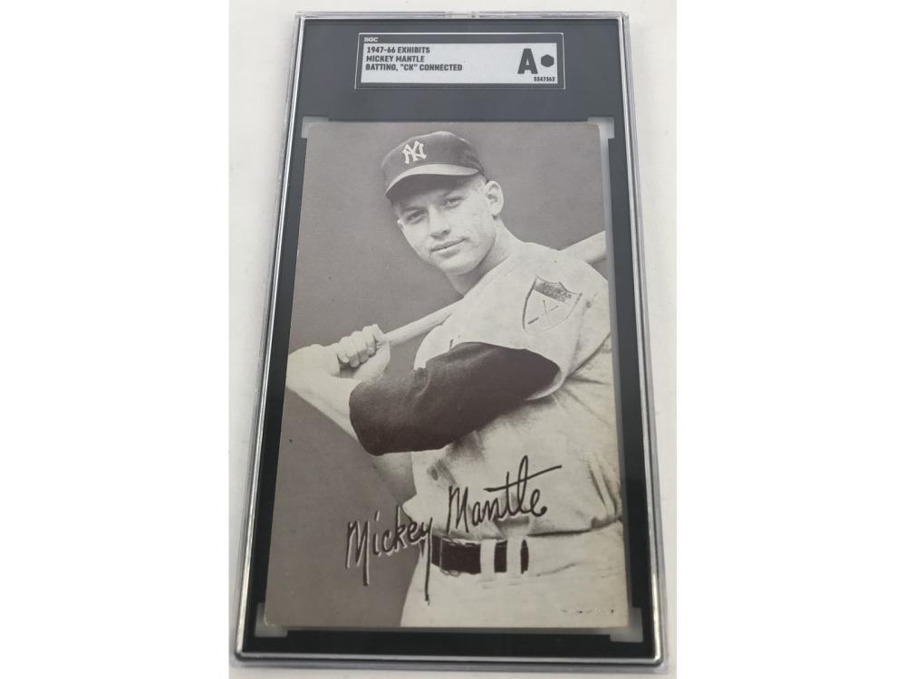 "Sgc A 1947 Exhibits Mickey Mantle (batting ""ck"")"