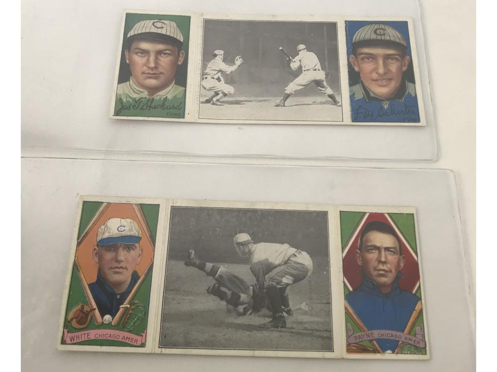 Pair Of 1912 T202 Hassan Triple Folders