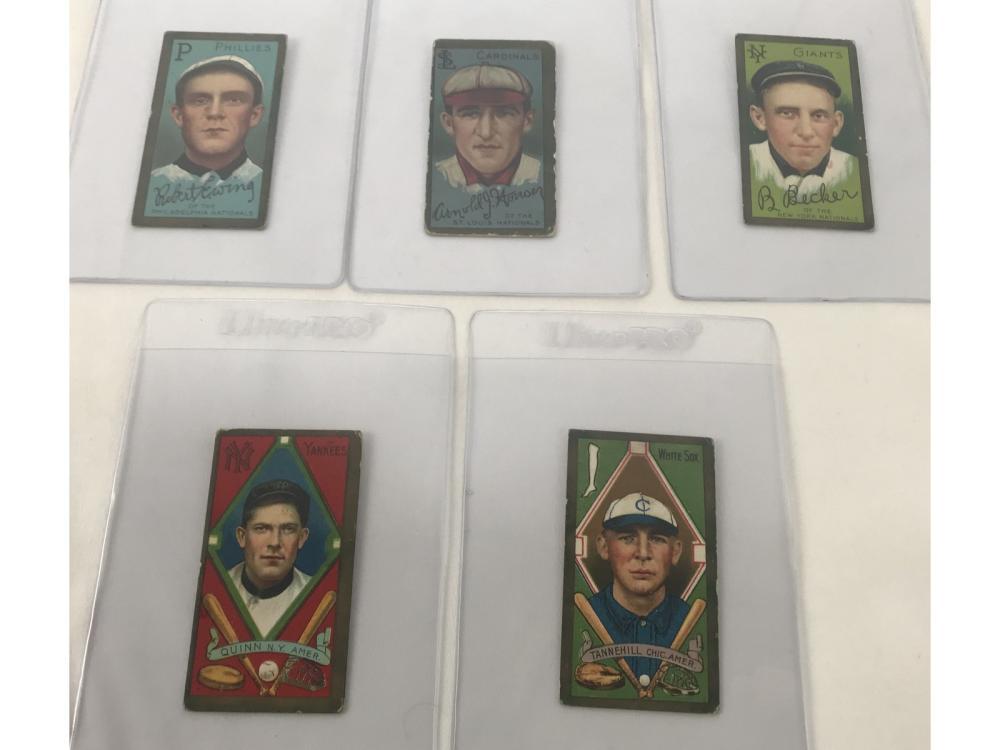 (11) 1911 T205 Rare Green Tint/borders
