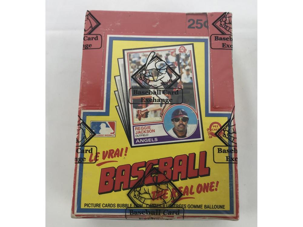 Bbce Sealed 1983 Opc Baseball Wax Box