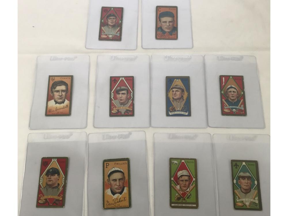 (10) 1911 T205 Tobacco Cards - See Desciption