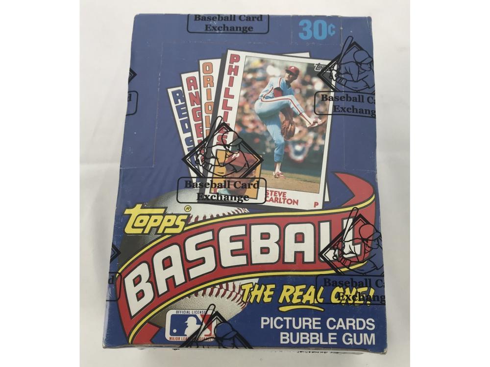 Bbce Sealed 1984 Topps Baseball Wax Box