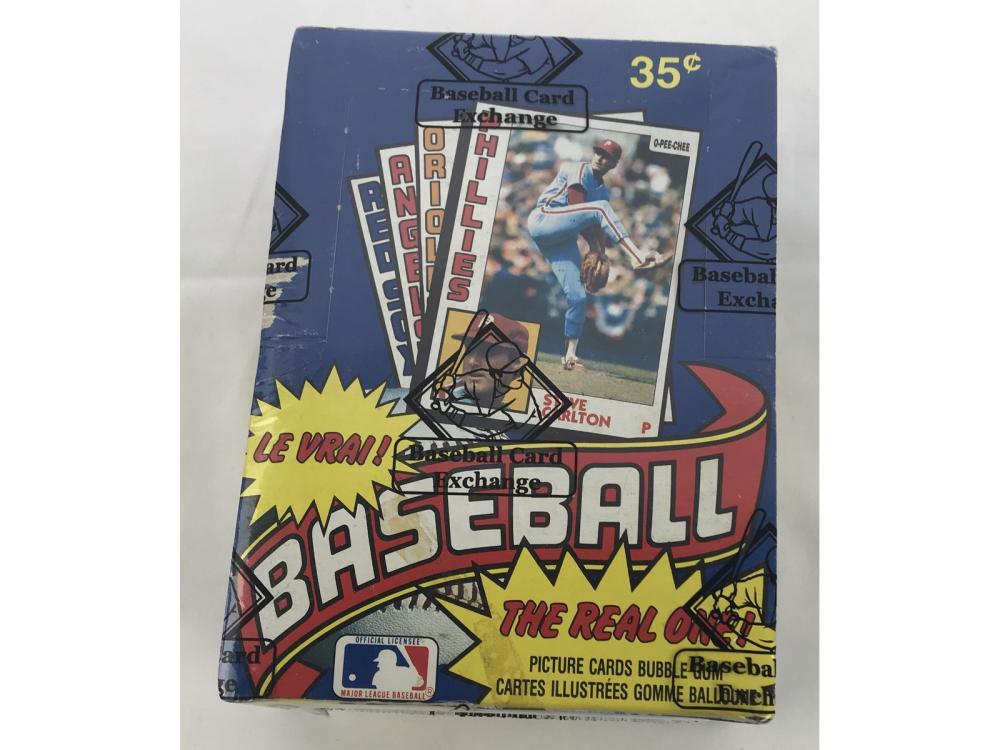 Bbce Sealed 1984 Opc Baseball Wax Box