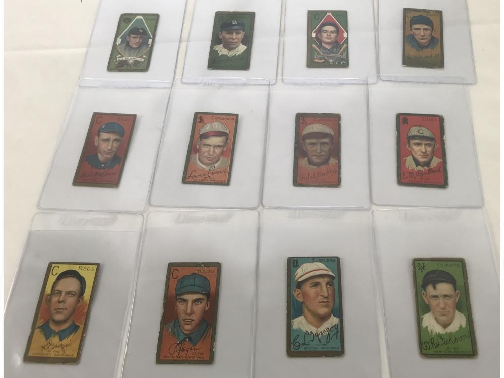 (12) 1911 T205 Tobacco Cards - See Description