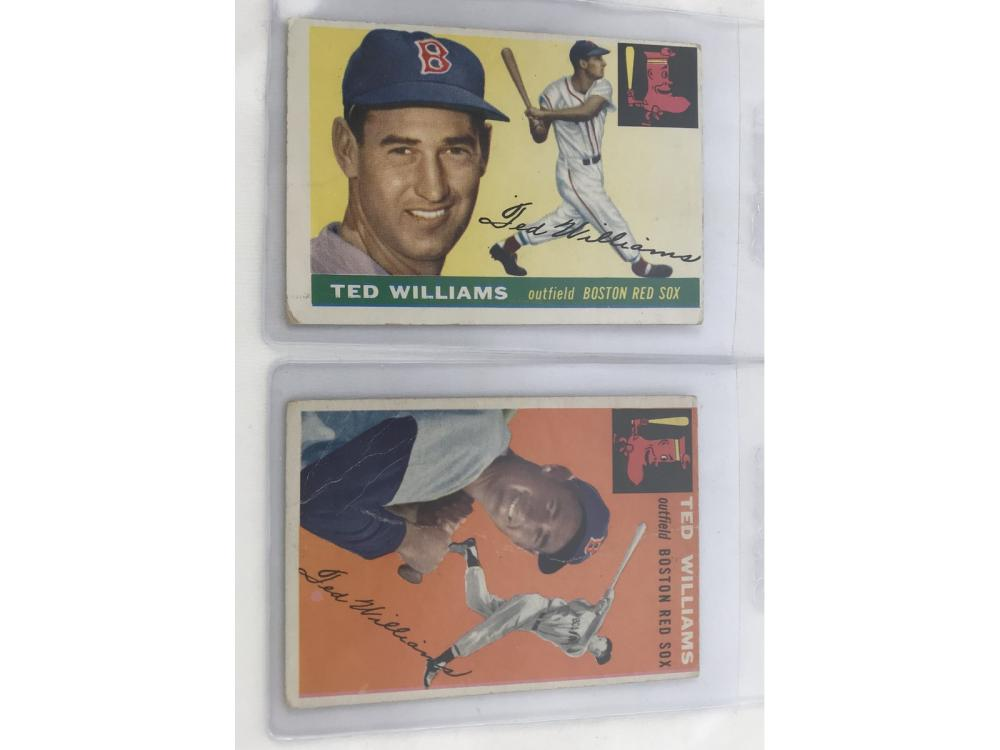 Pair Of Ted Williams: 1954 & 1955 Topps
